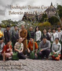 Sharing Latihan Meditasi Bersama di Vihara Bodhigiri, 2010
