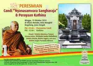 """Peresmian Candi """"Nyanasamvara Sangharaja"""""""